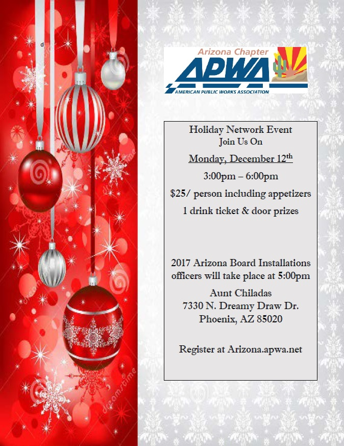 Holiday Network Event, APWA @ Aunt Chiladas | Phoenix | Arizona | United States