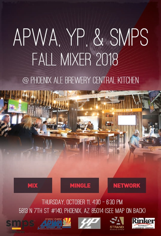 APWA, YP, & SMPS FALL MIXER 2018 @ Phoenix Ale Brewery Central Kitchen | Phoenix | Arizona | United States