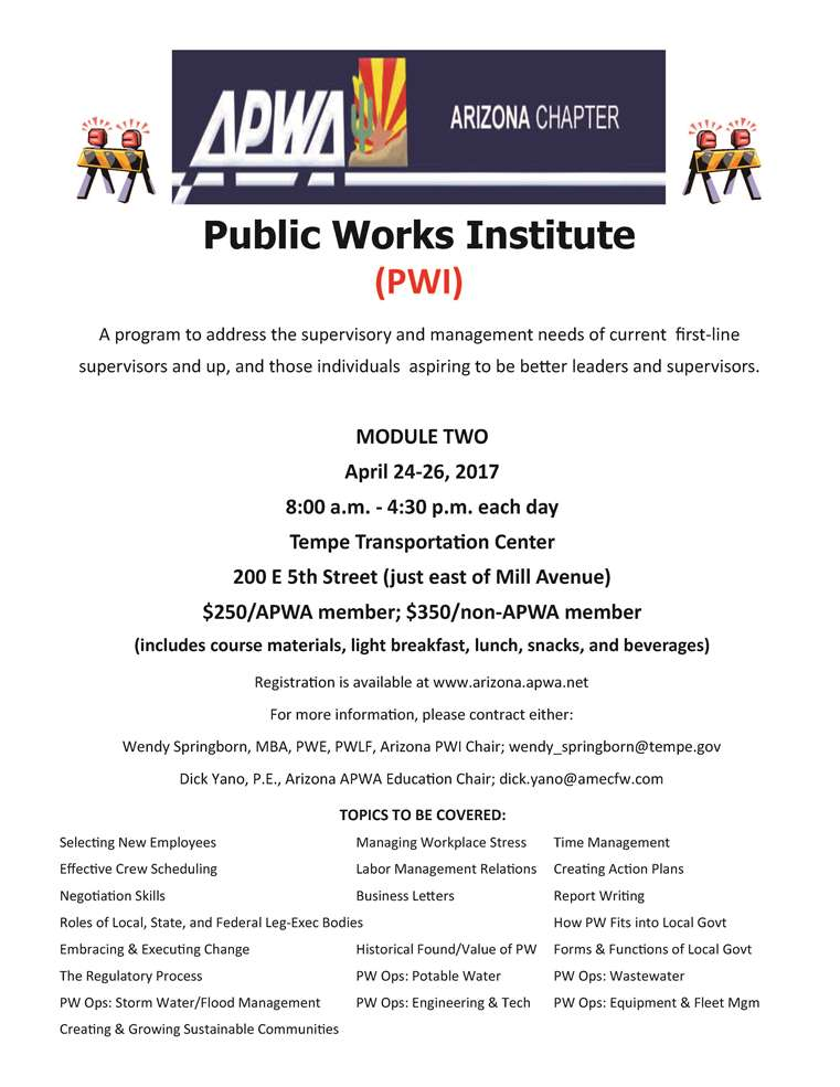 APWA Public Works Institue @ Tempe Transportation Center | Tempe | Arizona | United States